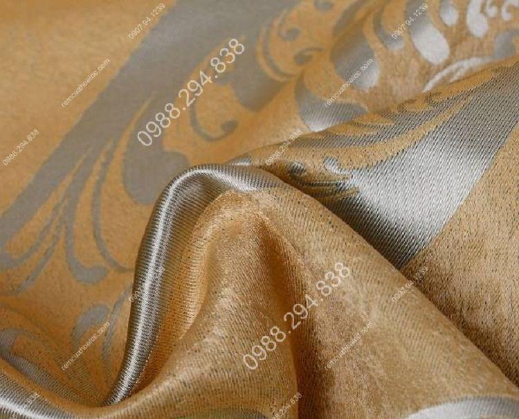 Rèm cửa cao cấp đẹp vàng ánh bạc 12