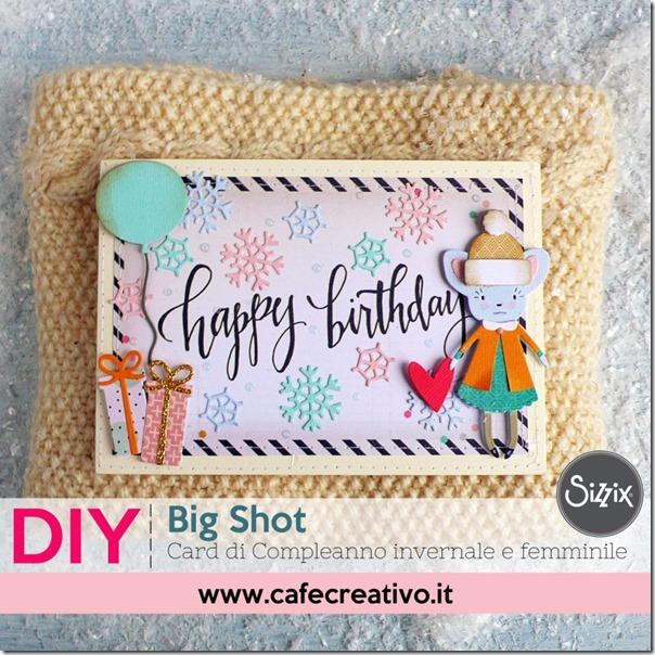 Card di Compleanno invernale e femminile