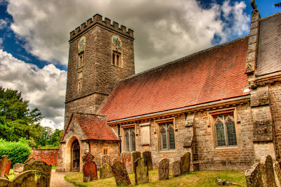 Dramatic shot of the church