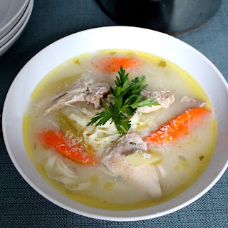 Chicken Noodle Soup with Homemade Noodles.