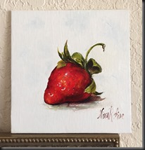 Strawberry with Fancy Stem on wall