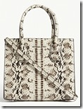 Michael Michael Kors Snakeskin Embossed Leather Mercer Handbag