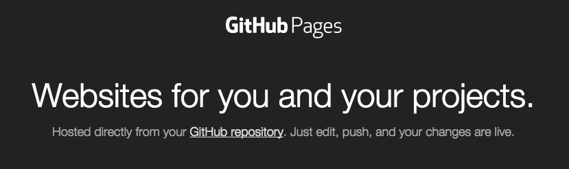 Github Pages Top