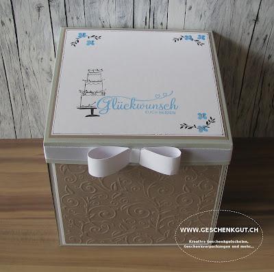 Geschenkbox Explosionsbox Überraschungsbox Hochzeit Flitterwochen Geldgeschenk