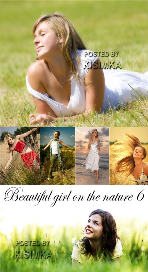 Stock Photo: Beautiful girl on the nature 6
