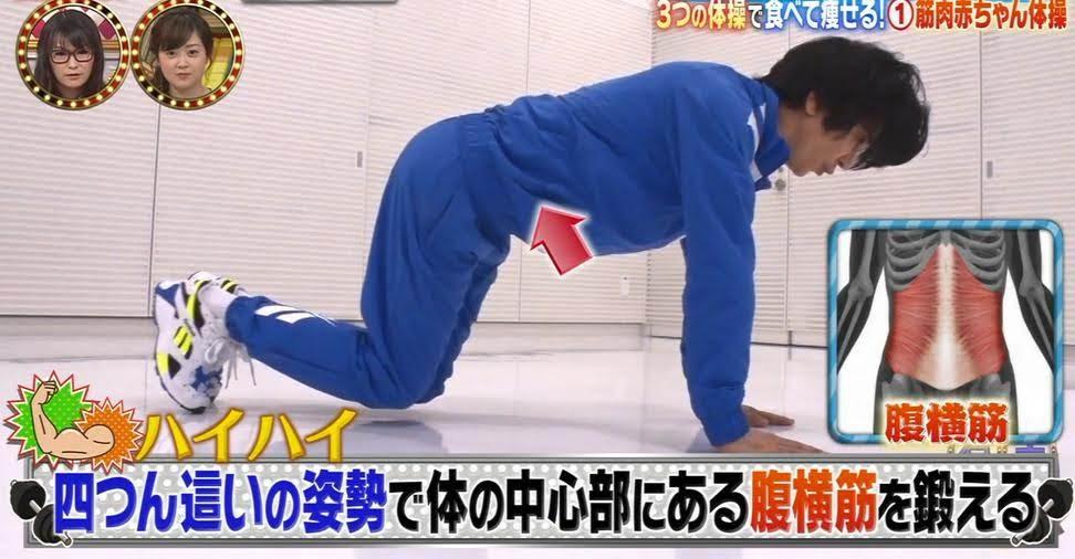 筋肉ダイエット(有吉ゼミで紹介)筋肉リズム体操の動画 筋肉赤ちゃん体操・筋肉アニマル体操のやり方