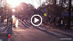 Short video of the half marathoners coming around the corner.