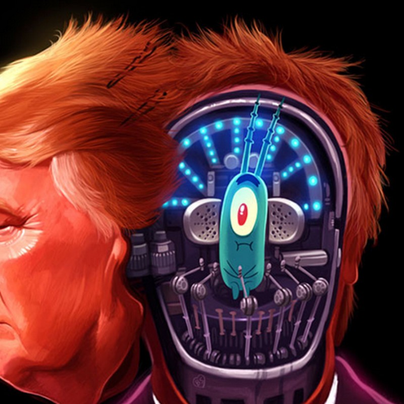 Ilustraciones satíricas después del triunfo de Trump