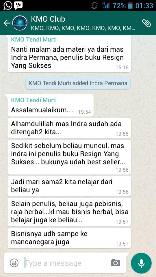 Indra Permana Penulis Buku Resign Yang Sukses di KMO