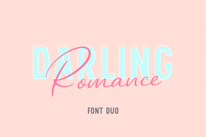Download Darling Romance # Duo Font Family From Larin Type Co