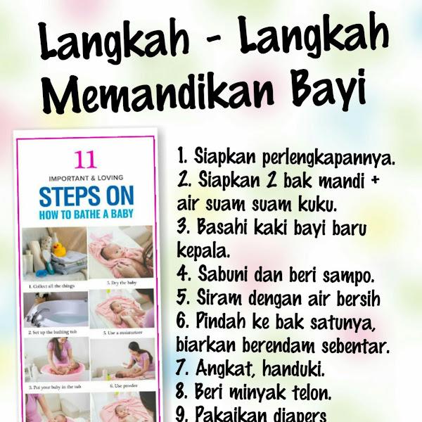 Langkah Langkah Memandikan Bayi
