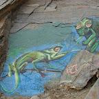 Mural en los acantilados