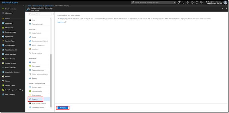 AZURE] Redeploy Virtual Machine on Azure - Firdasyah