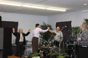 Pastor and Bro Charles giving thanks to Jesus for a mighty move of the Holy Ghost!
