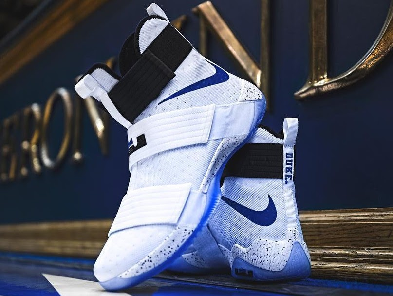 quality design 34805 1e259 Duke Blue Devils Received Their Special LeBron Soldier 10 PEs   NIKE ...