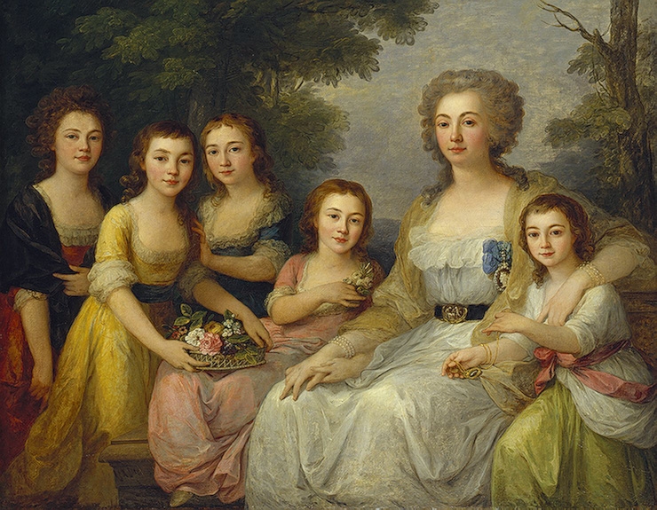 Angelica Kauffmann - Portrait of Anna Protasova and her children