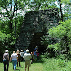 Group walks over to the Raven Cliff Furnace
