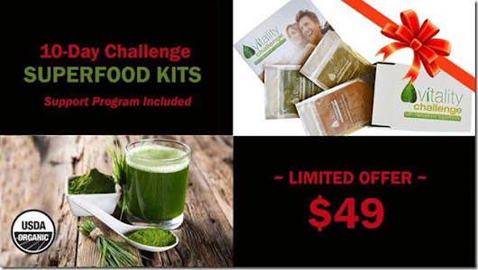 #BlackFriday #CyberMonday–Miessence Superfood 10 Day Vitality Challenge KIt