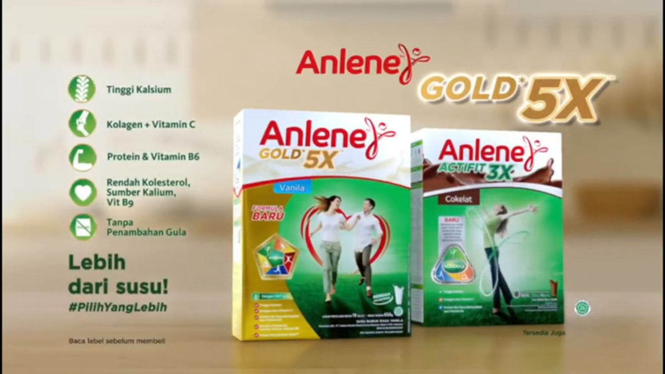Anlene Gold 5X dengan kandungan nutrisi superior atau Actifit 3X dengan kandungan nutrisi unggul. Karena sudah saatnya kita #PilihYangLebih #LebihDariSusu