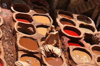 Photo: Tanneries, Fes