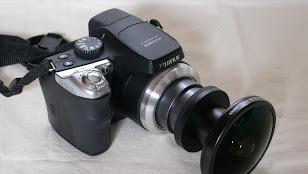 FinePix S8100fdに魚眼レンズFC-E8取り付け