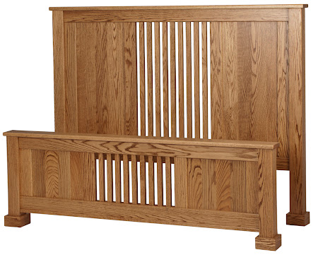 Hillside Bed Frame in Honey Oak
