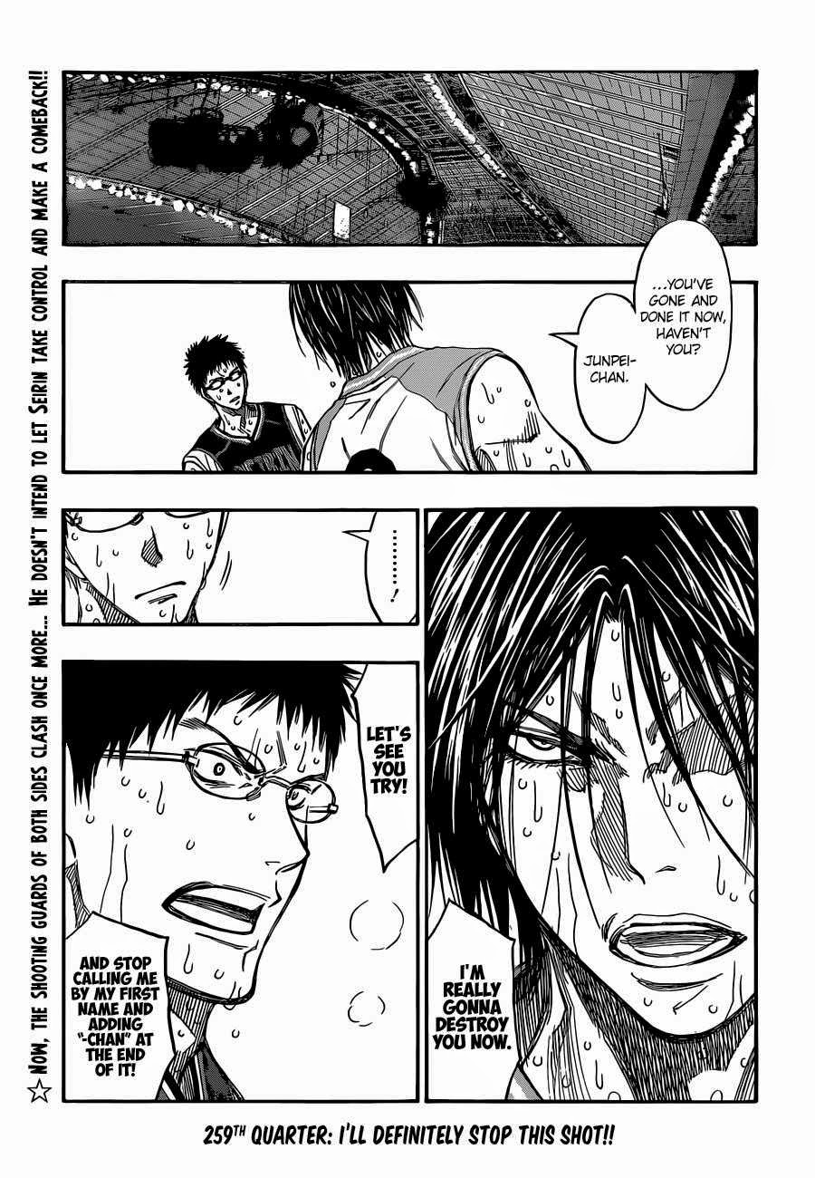 Kuroko no Basket Manga Chapter 259 - Image 02