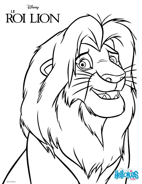 The Lion King  Simba Coloring Page