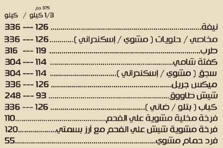 اسعار مطعم ابو راوية