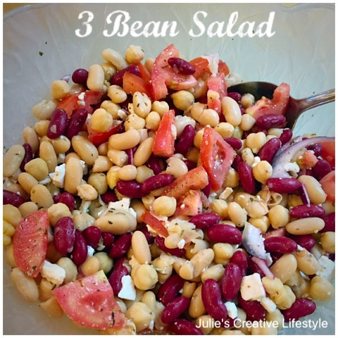 recipe to make bean salad at Julie's Creative Lifestyle
