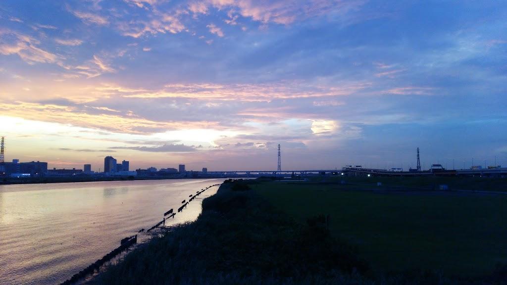 堀切橋と荒川
