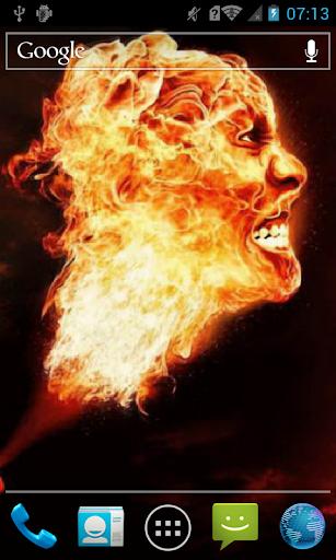 Burning head Live WP