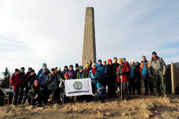 nasza grupa na szczycie Łysej Góry