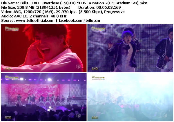 Download [Perf] EXO – Wolf + Overdose + Love Me Right