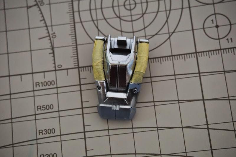 건담 프라모델 부분 도색을 위한 마스킹 - MG 캠퍼 동력선 부분 도색