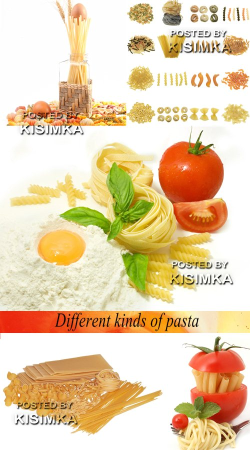 Stock Photo: Different kinds of pasta