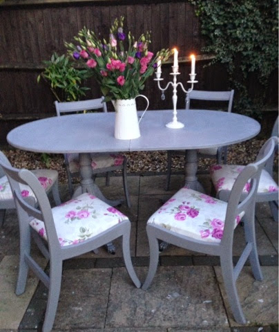 Bowiebelle vintage upcycled furniture living room for Upcycled dining table