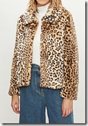 Shrimps Junior Leopard Print Faux Fur Jacket - up to size 12