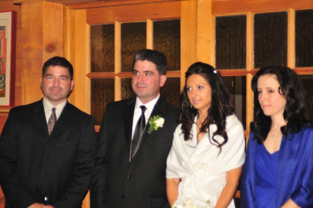 The bride and bridegroom and their sponsors.