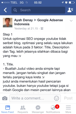 Cara Optimasi SEO Onpage Pada Youtube
