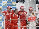 Podium 2007 F1 GP of Brazil: 1. Raikkonen 2. Massa 3. Alonso