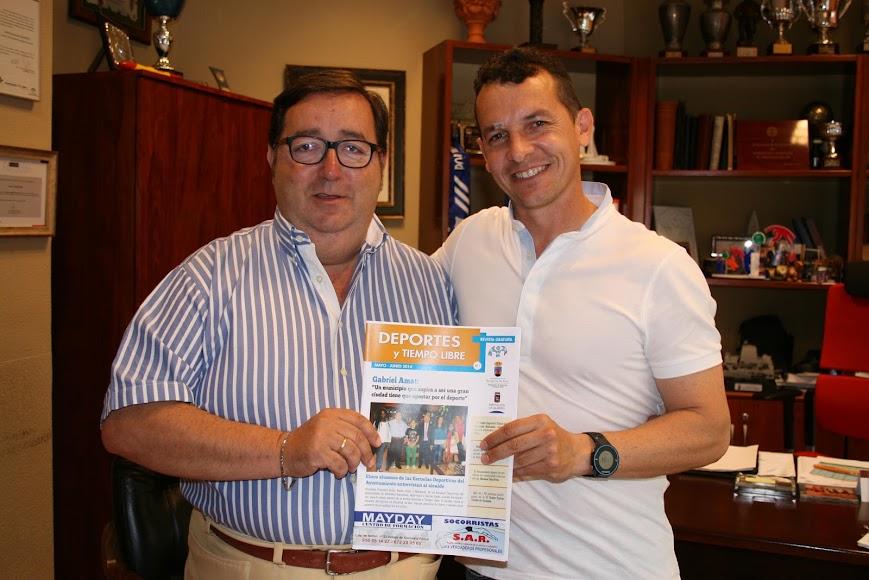 con Paulino Granero, roquetero y preparador físico de la Selección de Rusia.
