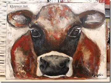 KJoyner Art Cow Painting