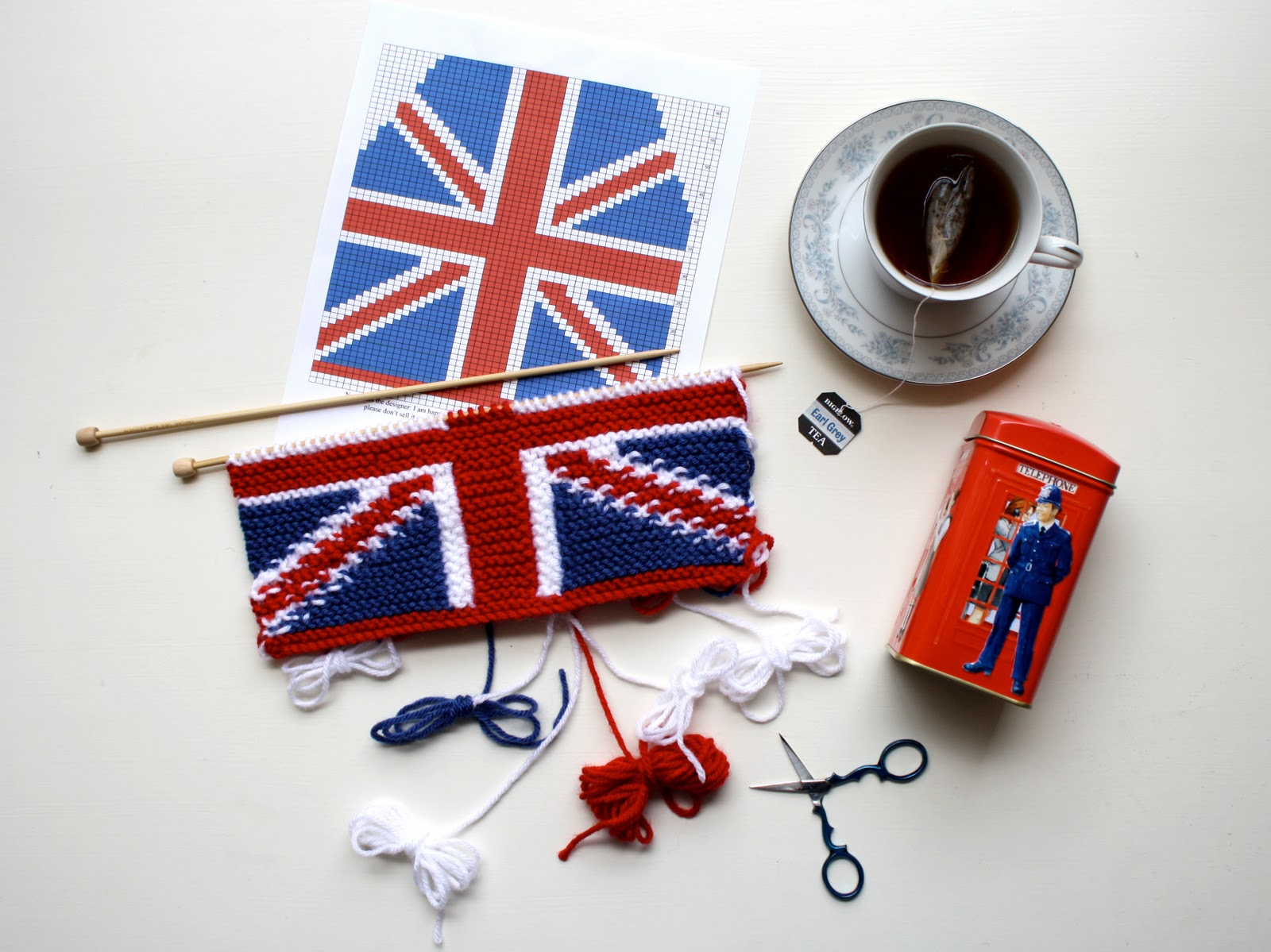 Knitting Pattern For Union Jack : one sheepish girl: WIP Wednesday - Union Jack Tea Cosy