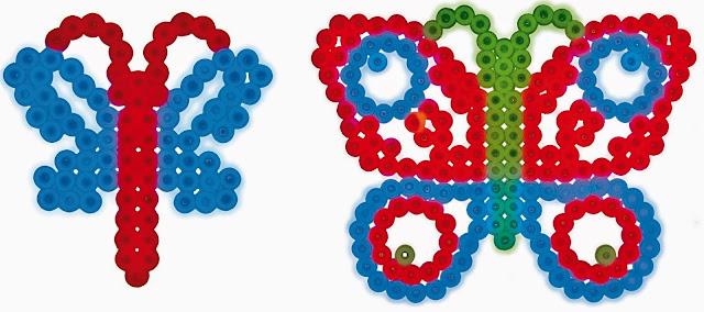 Bướm xinh trong bộ đồ chơi xếp hình Hama Night Life Glow Beads