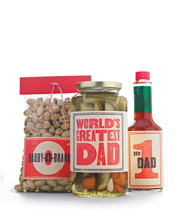 Give Dad's favourite snacks and condiments some personal style.