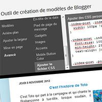 Blogger Code - Éditeur de modèles - Ajouter des fichiers CSS