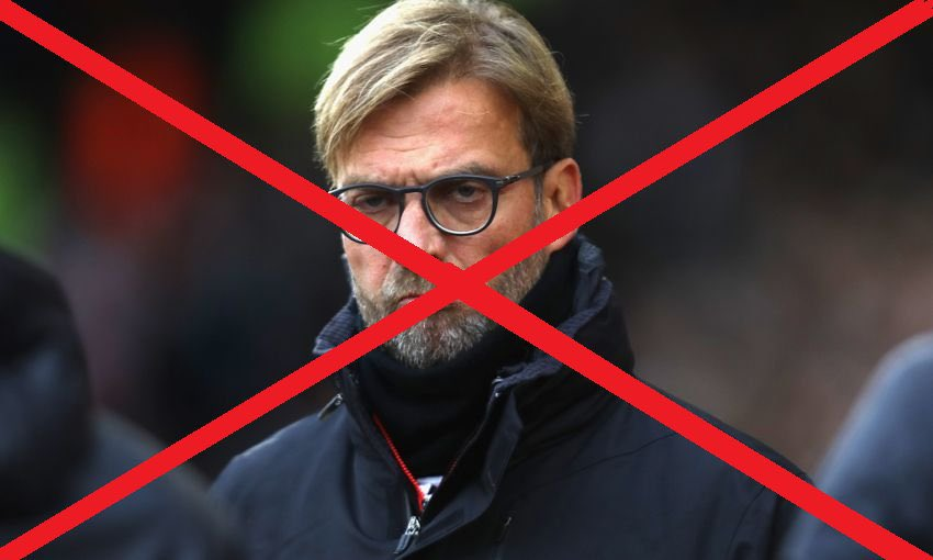 #KloppOut is trending on twitter after Manchester United defeat