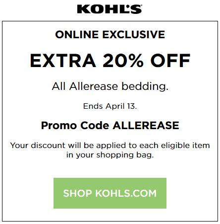 Kohls 20 off coupon april 2018