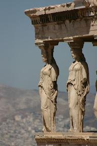 Caryatids, Ionic temple of Erechtheus, Acropolis, Athens